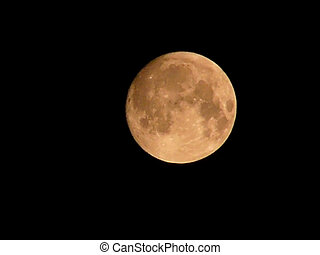 very brightly lit moon