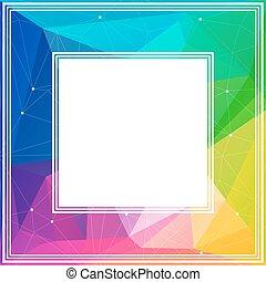 bright multicolored border