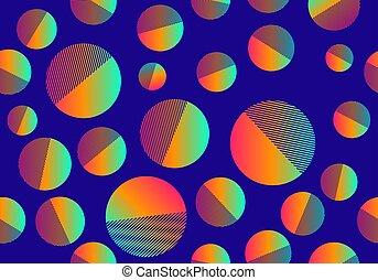 Bright multicolored circles