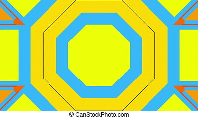 Bright multicolored geometric shapes