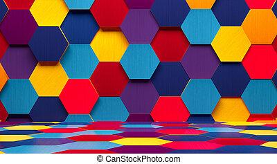 Bright Multicolored Room Background - A creative...