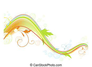 bright multicolored wave