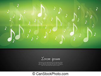 Bright music vector background