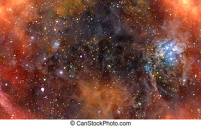 nebula gas cloud in deep outer space