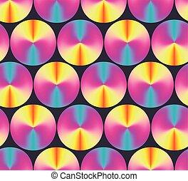 Bright neon colors gradient circles pattern