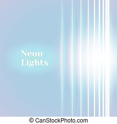 Bright neon lines background with 80s style and shiny...