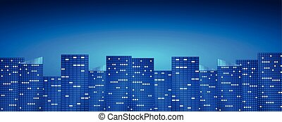 Bright night city background.