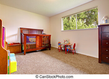 Bright nursery room