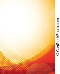 Bright orange background. Abstract colorful illustration ...