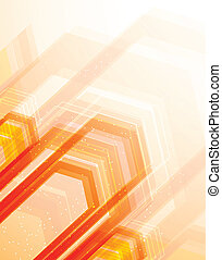 Bright orange background. Abstract illustration