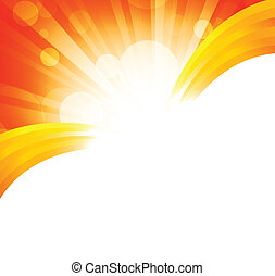 Bright orange background