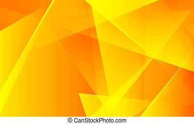 bright orange background with triangles