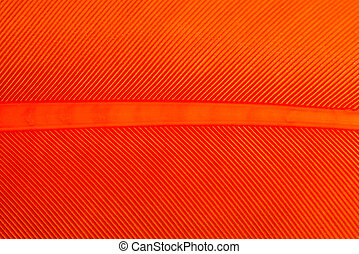 Bright Orange Bird Feather Pattern Macro for Backgrounds