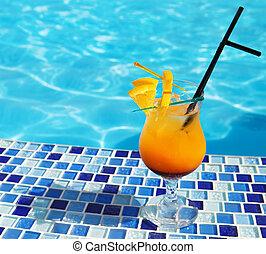 Bright orange cocktail