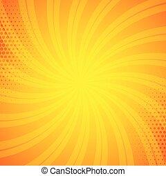 bright orange comic book background