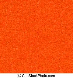 Bright orange felt background. Seamless square texture, tile rea
