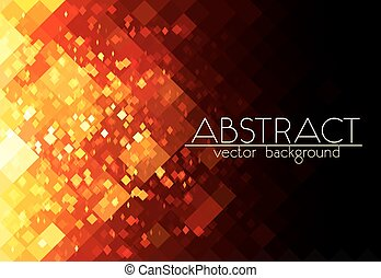 Bright orange fire grid abstract horizontal background