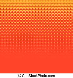 bright orange halftone background design