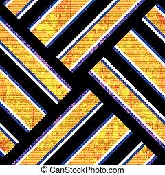 bright orange polygons on a black background grunge texture geometric background