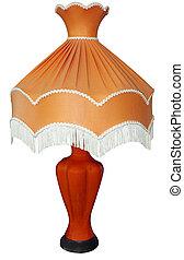 Bright Orange Table Lamp