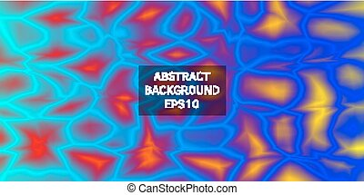 Bright original background with geometric shapes.