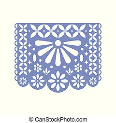Papel Picado vector template design