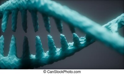 bright particulate 3D rendered DNA