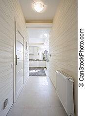 Bright passageway in elegant home