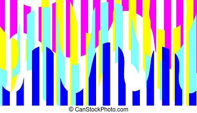 bright pattern blue yellow pink wave