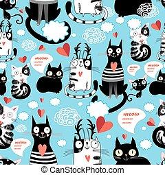 bright pattern cat lovers