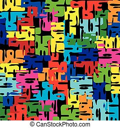 Bright pattern of puzzle pieces.