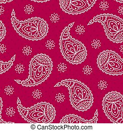 Bright pattern with paisley.