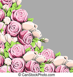 Bright peony - Bright floral background with peonies