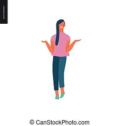 Bright people portraits - young woman