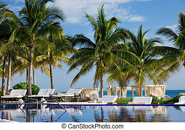 tropical resort - bright picture of beautiful caribbean ...