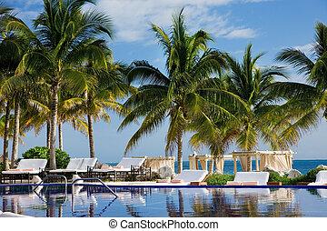 tropical resort - bright picture of beautiful caribbean ...