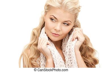 beautiful woman in muffler