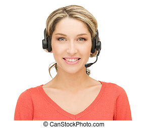 helpline - bright picture of friendly female helpline...
