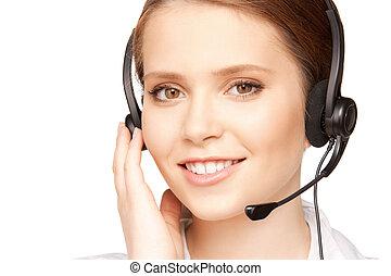 helpline - bright picture of friendly female helpline ...
