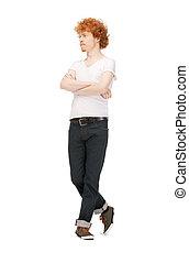 handsome man in  white shirt