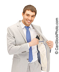 businessman with credit card