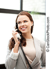 businesswoman with phone