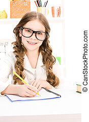 bright picture of learning elementary school student