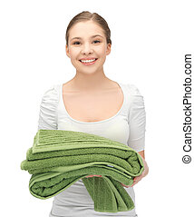 lovely girl with towels