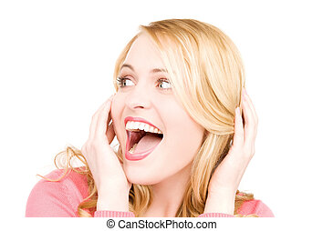 surprised woman face - bright picture of surprised woman ...