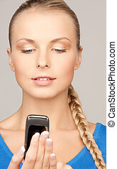 woman with cell phone
