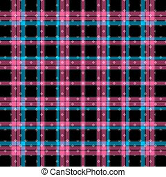 bright pink and blue lines on a black background