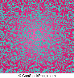 bright pink background with a floral ornament