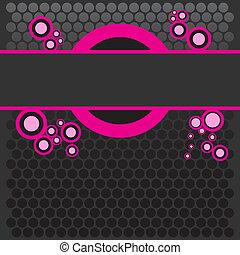 Bright pink banner
