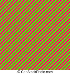 Bright Pink Green Diag Stripe Paper - Diagonal Stripe Paper